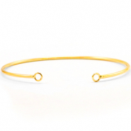 DQ European metal findings bangle bracelet with 2 loops Gold (nickel free)