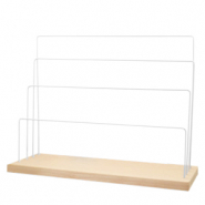 Jewellery display for jewellery and accessories White-natural (natural wood colour)