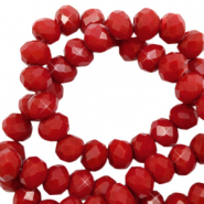 Top faceted beads 3x2mm disc Maroon Red-Pearl Shine Coating