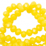 Top faceted beads 3x2mm disc Sunshine Yellow-Pearl Shine Coating