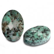 Natural stone beads faceted oval Turquoise Blue