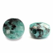Natural stone beads faceted round 5mm Turquoise Blue