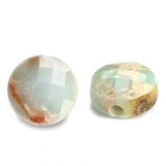 Natural stone beads faceted round 5mm Light Turquoise