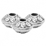 DQ European metal beads deco Antique Silver (nickel free)