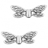 DQ European metal beads dragonfly Antique Silver (nickel free)