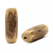 Coconut beads tubes Natural brown (natural colour of the bead)