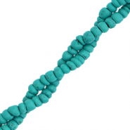 Coconut beads disc 4mm Viridian Green