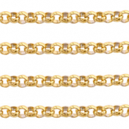 Stainless steel findings belcher chain 5mm Gold