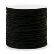 Macramé bead cord 1.5mm Black