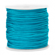 Macramé bead cord 1.5mm Dark Cyan Blue