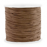 Macramé bead cord 0.8mm Chestnut Brown