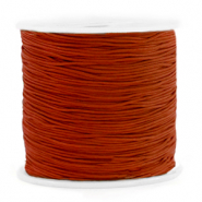 Macramé bead cord 0.8mm Rosewood Brown