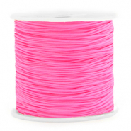 Macramé bead cord 0.8mm Neon Rose