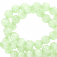 Polaris beads round 6 mm Mosso shiny Ash Green