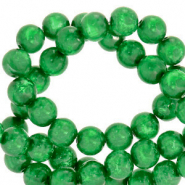 Polaris beads round 8 mm Mosso shiny Bright Green