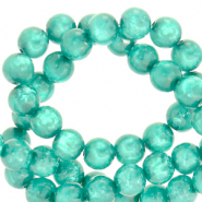 Polaris beads round 6 mm Mosso shiny Biscay Green