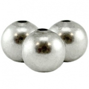 Round DQ bead DQ Antique silver durable plated
