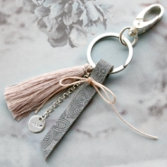Inspirational Sets Keychains with tassels and DQ leather