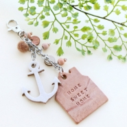 Inspirational Sets Timeless keychains with leather pendants