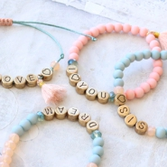 Inspirational Sets  Macramé bracelets with letter beads