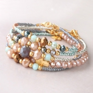 Inspirational Sets Colourful bracelets with faceted beads