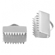 DQ lace clip 8mm Silver plated