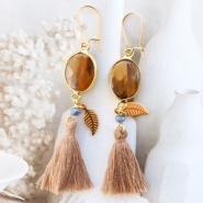 Inspirational Sets Dreamy earrings with semi-precious connectors