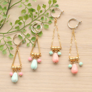 Inspirational Sets Ultra-summery earrings with ceramic beads!