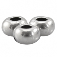 DQ metal ring/flat bead 5x3.3mm Antique Silver (nickel free)