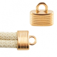DQ metal end cap with loop for 5 mm (Dreamz) cord Rose gold