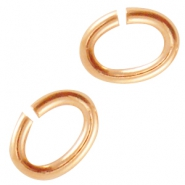 DQ metal oval jumpring Rose gold (nickel free)