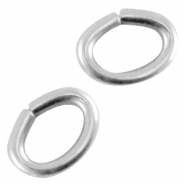 DQ metal oval jump ring Antique silver (nickel free)