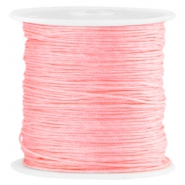 Macramé satin bead cord 0.8mm Bright rose peach