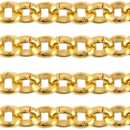 DQ metal steelchain 3.0mm  Gold (nickel free)