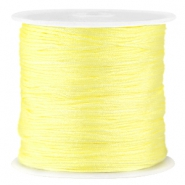 Macramé satin bead cord 0.8mm Tender yellow