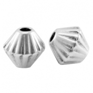 DQ metal cone shaped bead Antique silver (nickel free)