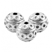 DQ metal deco bead 8mm Antique silver (nickel free)