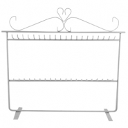 Metal jewellery stand double Grey
