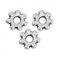 DQ metal spacer bead Bali ring 4.8mm Antique silver (nickel free)