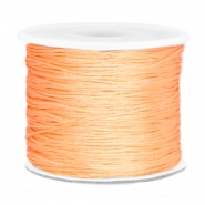 Macramé bead cord 0.7mm Peach orange