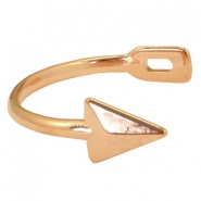 DQ metal findings half arrow bracelet Rose gold (nickel free)
