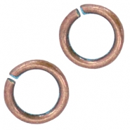 DQ findings 4,5mm jumpring Copper blue patina (nickel free)