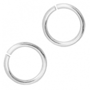 DQ metal findings jump ring 7.5mm Antique silver (nickel free)