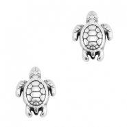 Beads DQ metal turtle Antique silver (nickel free)