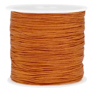 Macramé bead cord 0.8mm Copper brown