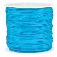 Macramé bead cord 0.8mm Cyan blue