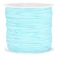 Macramé bead cord 0.8mm Light aquamarine blue