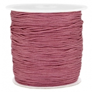 Macramé bead cord 1.0mm Light aubergine red