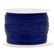 Macramé bead cord 0.5mm Dark blue