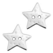 DQ metal star beads Antique silver (nickel free)